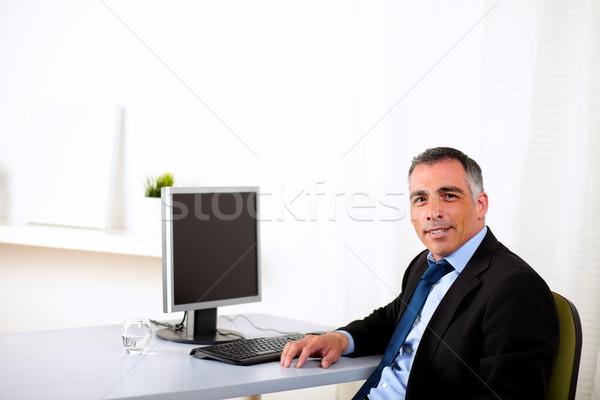 Charyzmatyczny wykonawczej pracy biuro portret hiszpańskie Zdjęcia stock © pablocalvog