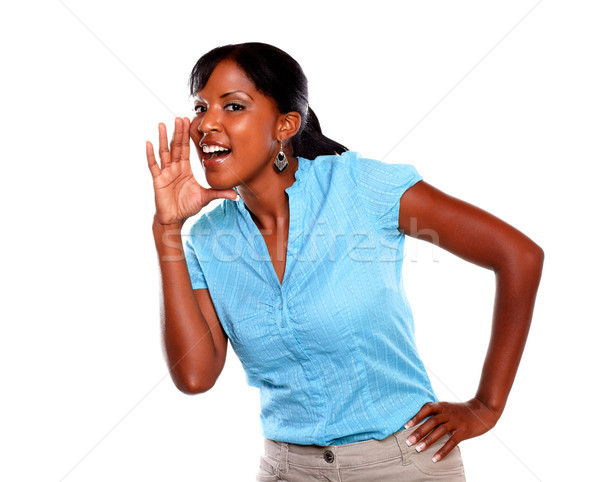 Adult woman screaming and looking at you Stock photo © pablocalvog