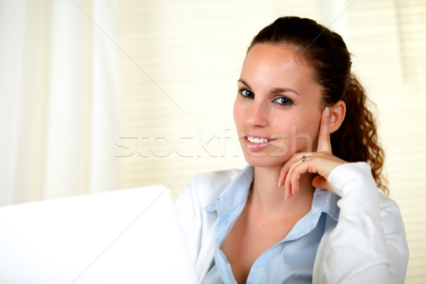 Stylish young woman looking at you Stock photo © pablocalvog