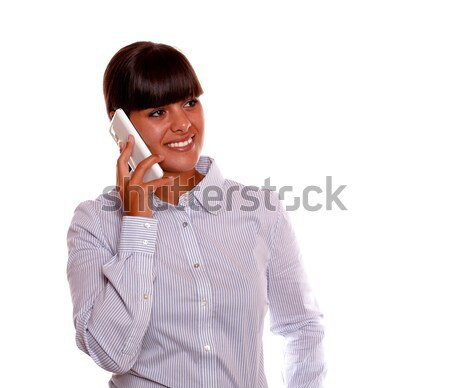 Charming hispanic female looking at you Stock photo © pablocalvog