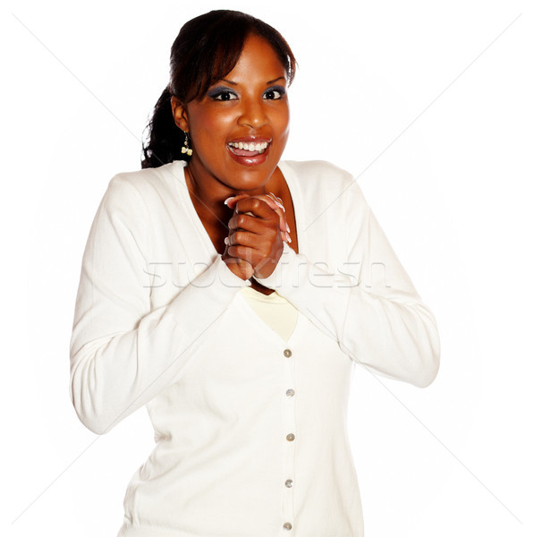 Excited adult woman looking at you Stock photo © pablocalvog