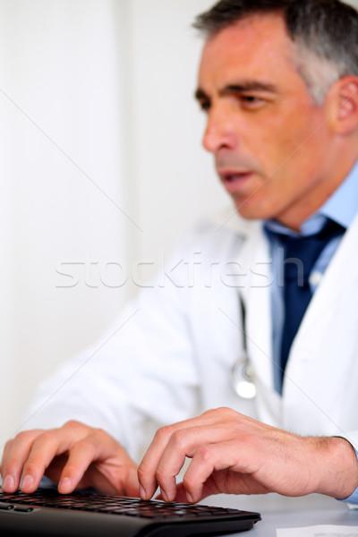Professionele medische specialist werken portret ziekenhuis Stockfoto © pablocalvog