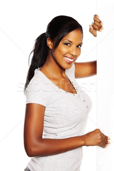 Kadın portre genç güzel siyah kadın Stok fotoğraf © pablocalvog