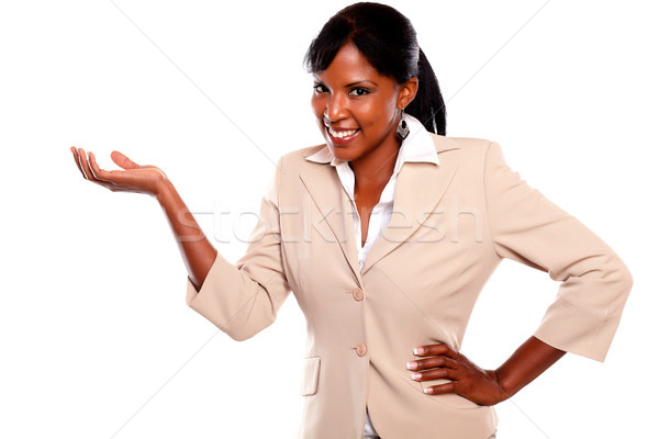 Zdjęcia stock: Kobieta · interesu · patrząc · dziewczyna · świetle · młodych · głowie
