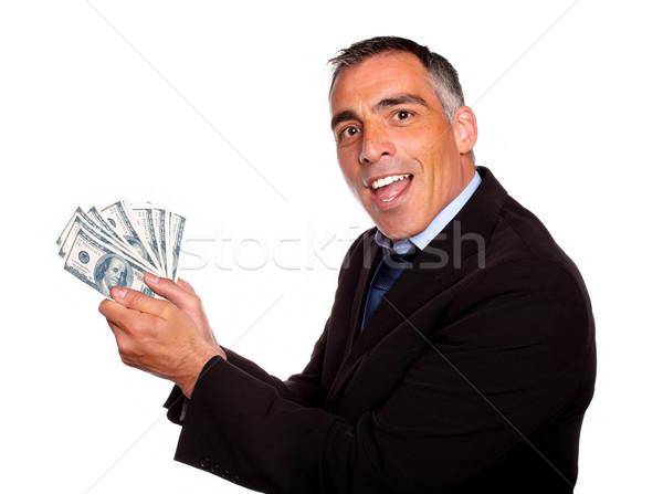 Ambitny wykonawczej pieniężnych ceny portret Zdjęcia stock © pablocalvog