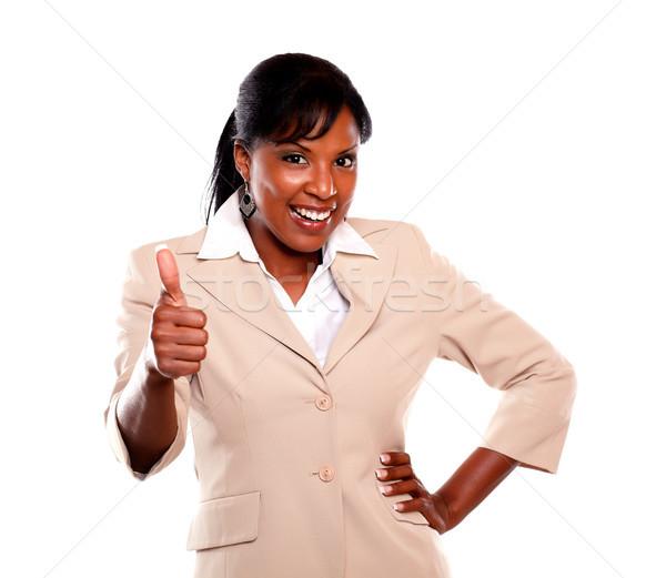 幸せ 女性実業家 ことわざ 仕事 ストックフォト © pablocalvog