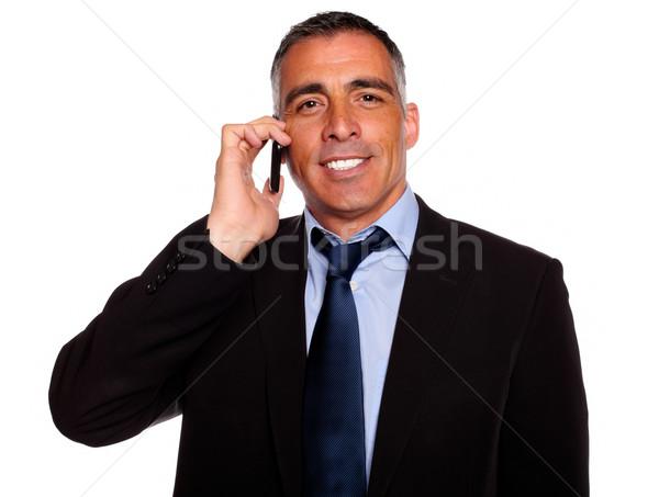 Charyzmatyczny biznesmen portret atrakcyjny Zdjęcia stock © pablocalvog
