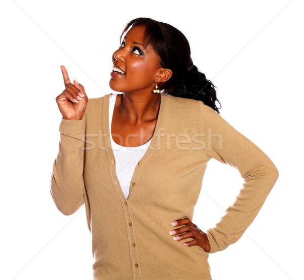 указывая белый женщину свет Сток-фото © pablocalvog