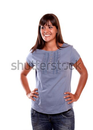Charming latin young woman with a happy attitude Stock photo © pablocalvog