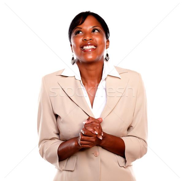 çekici yürütme gülümseyen beyaz iş Stok fotoğraf © pablocalvog