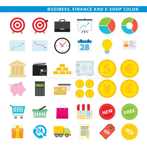 business finance & e-shop color Stock photo © padrinan