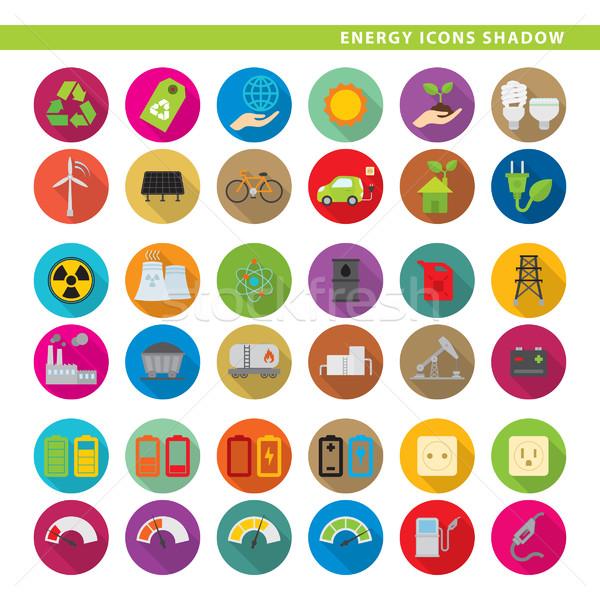 energy icons shadow Stock photo © padrinan