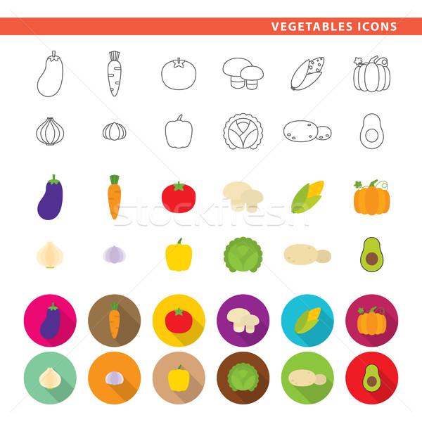 Vegetables icons. Stock photo © padrinan