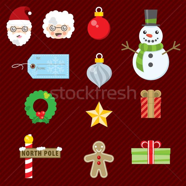 Christmas Set 001 Stock photo © padrinan