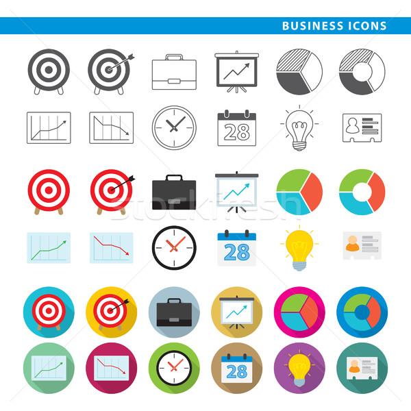 Business icons. Stock photo © padrinan