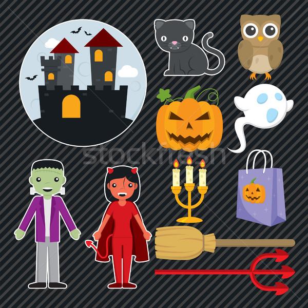 Halloween Set 001 Stock photo © padrinan