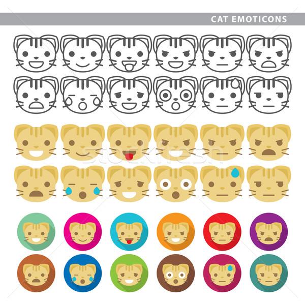 cat emoticons  Stock photo © padrinan