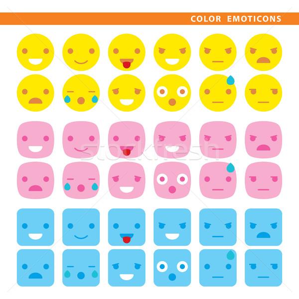 color emoticons Stock photo © padrinan