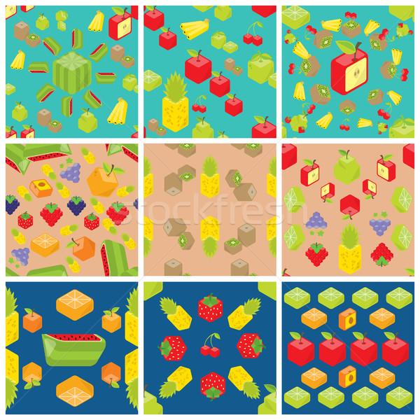 Cubic fruits patterns Stock photo © padrinan