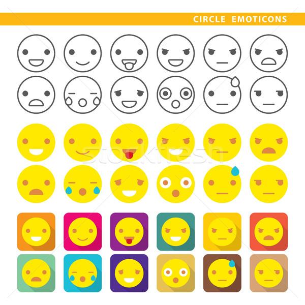 circle emoticons Stock photo © padrinan