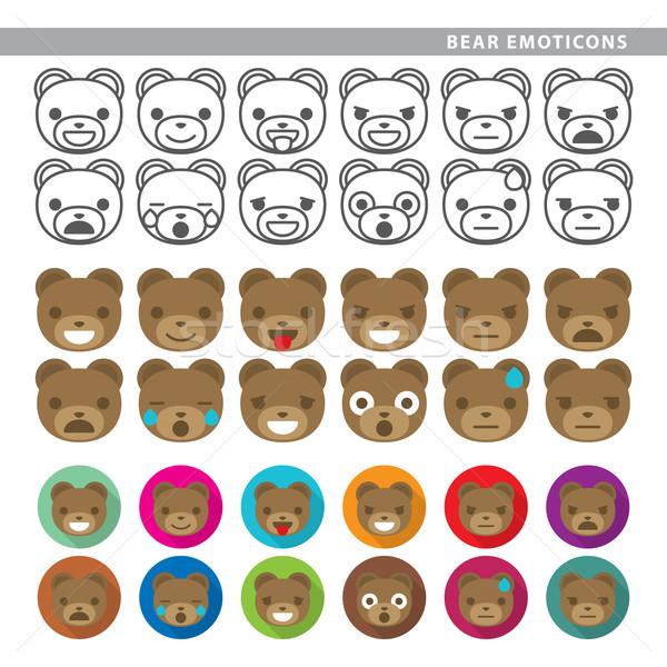 bear emoticons Stock photo © padrinan