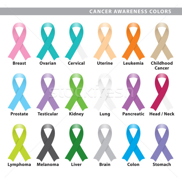 Raka świadomość kolory zestaw osiemnastu Zdjęcia stock © padrinan
