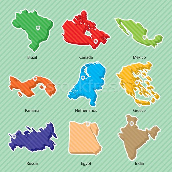 Maps 002 Stock photo © padrinan