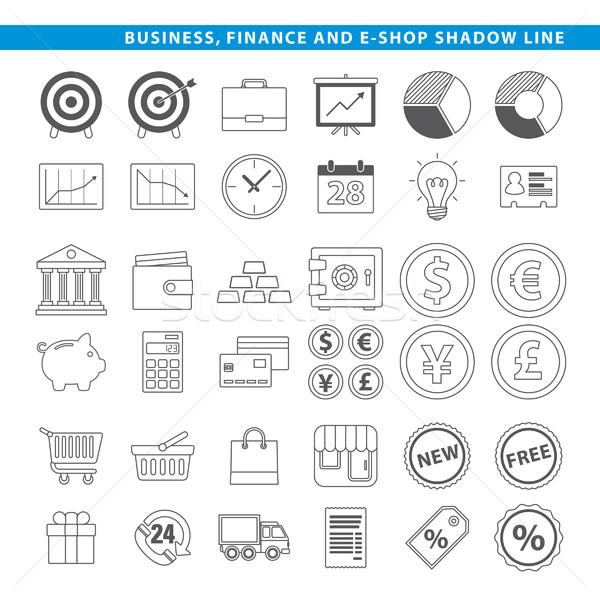 business finance & e-shop line Stock photo © padrinan