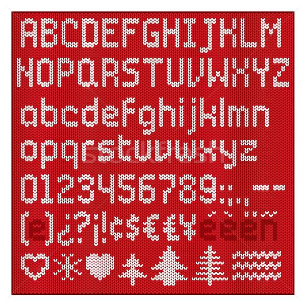 Knitted alphabet. Stock photo © padrinan