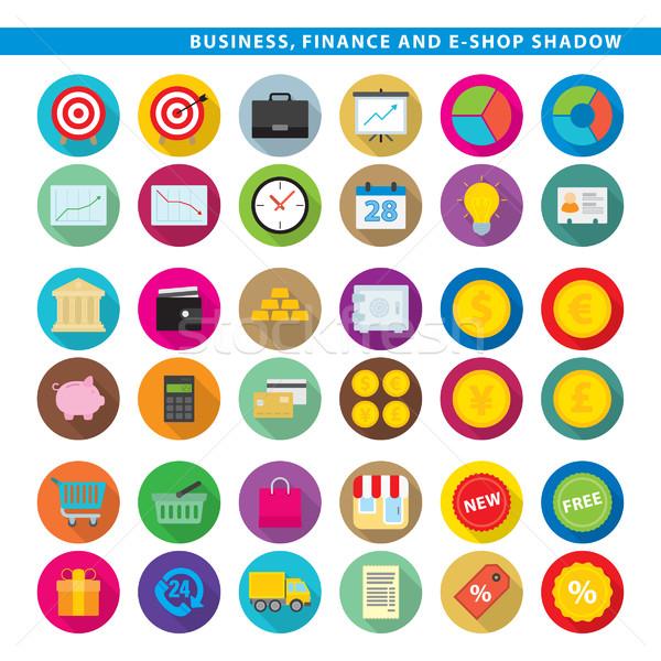 business finance & e-shop shadow Stock photo © padrinan