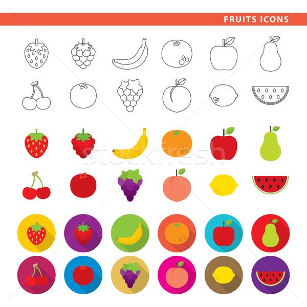 Fruits icons. Stock photo © padrinan