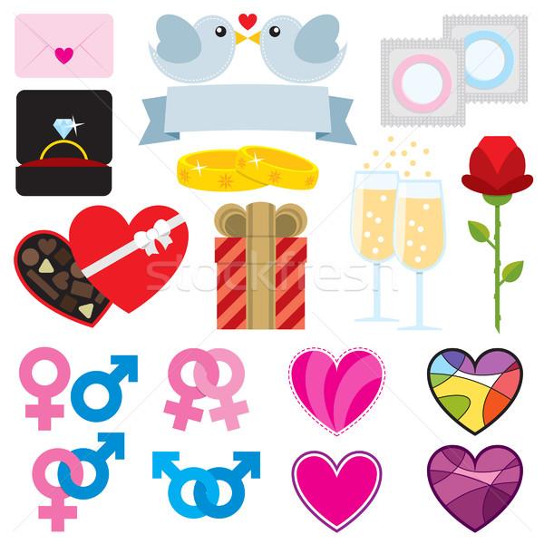 Valentine Set Stock photo © padrinan