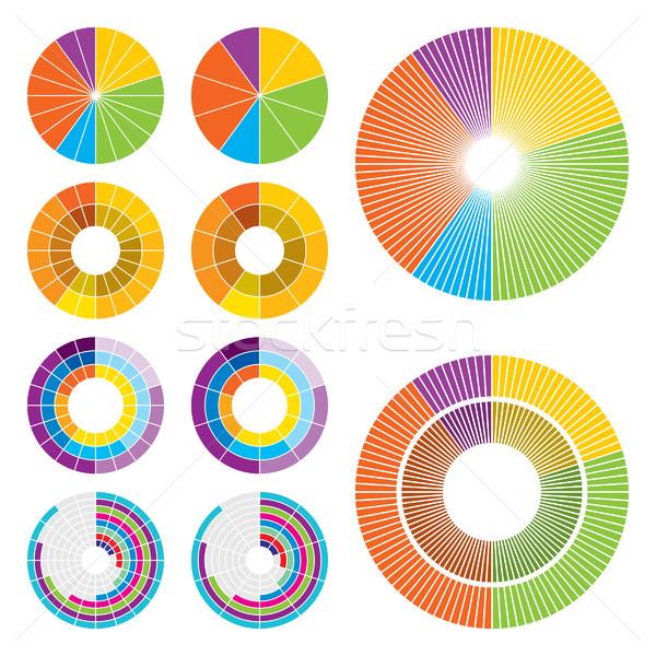 Circle charts Stock photo © padrinan
