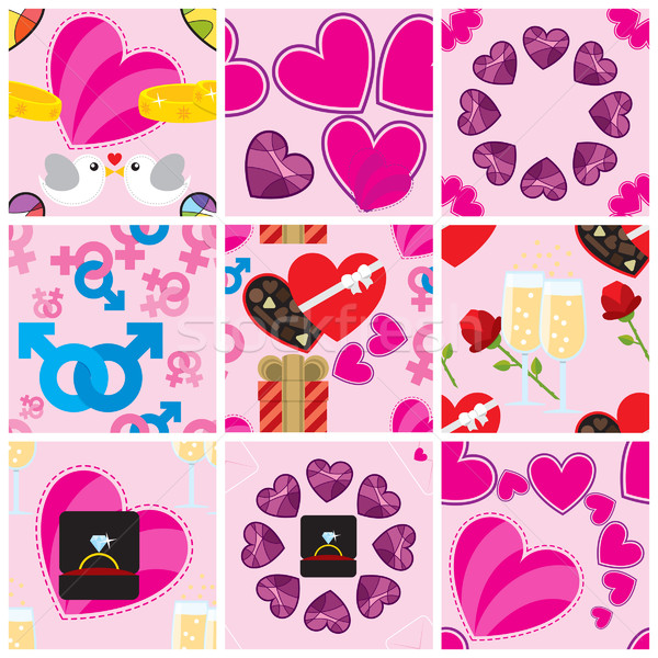 Valentine patterns Stock photo © padrinan