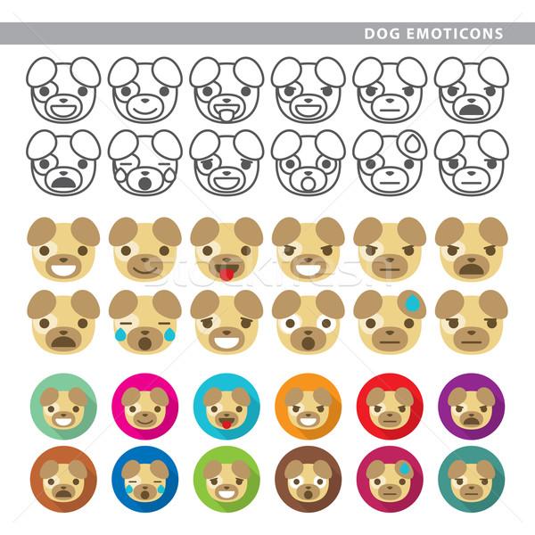 dog emoticons Stock photo © padrinan