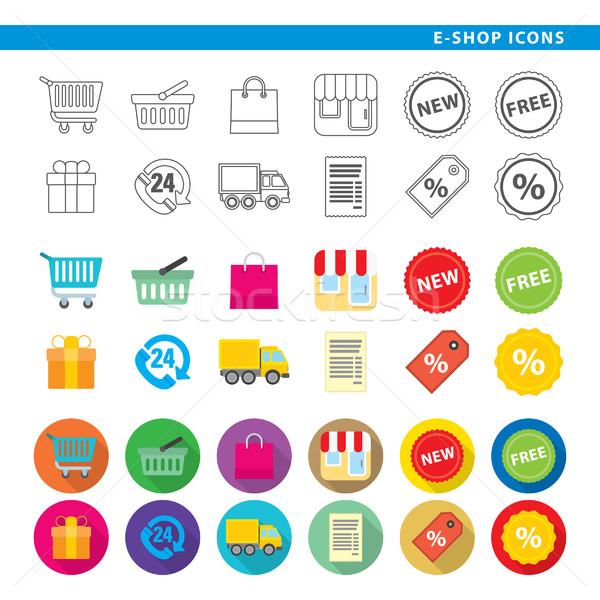 e-shop icons Stock photo © padrinan