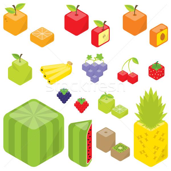 Cubic Fruits Stock photo © padrinan