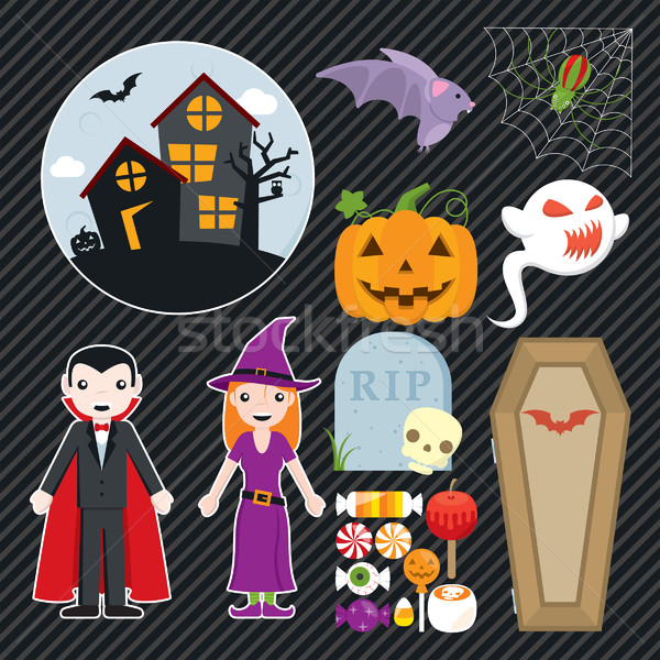 Halloween Set 002 Stock photo © padrinan