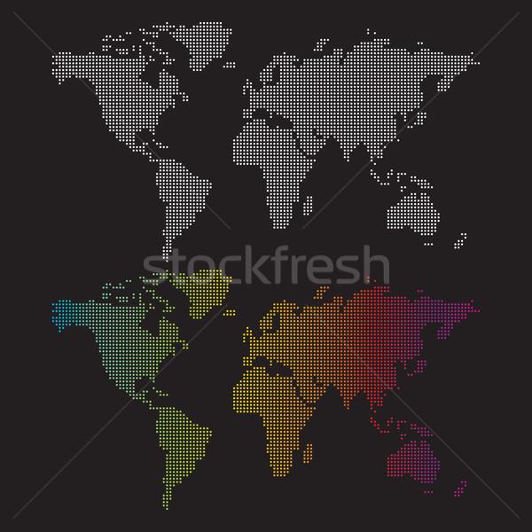 карт два пунктирный белый карта Сток-фото © padrinan