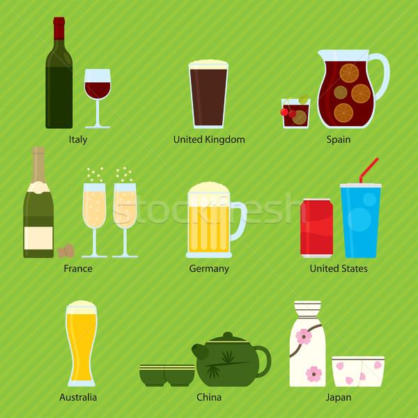 International beverages 001 Stock photo © padrinan