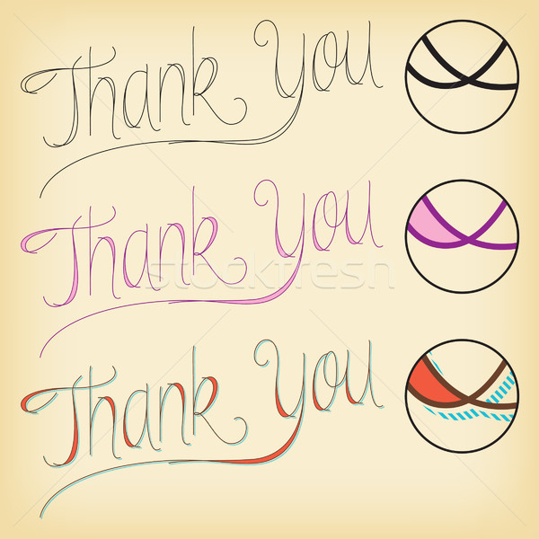Thank You Lettering. Stock photo © padrinan