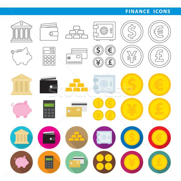 finance icons  Stock photo © padrinan