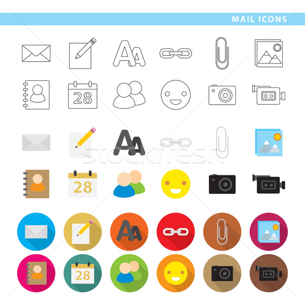 Mail icons. Stock photo © padrinan