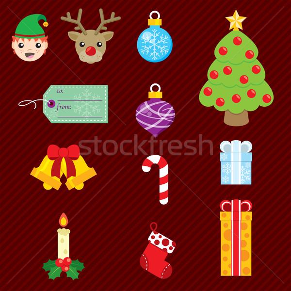 Christmas Set 002 Stock photo © padrinan