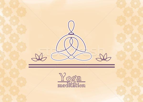 yoga meditation Stock photo © padrinan