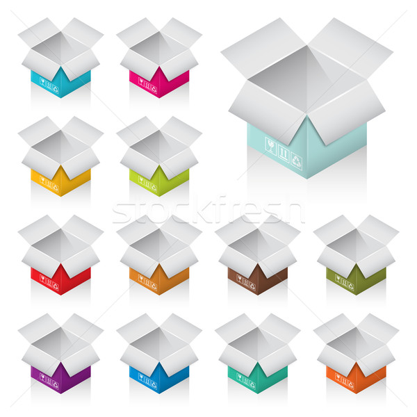 colorful boxes Stock photo © padrinan