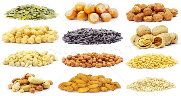 Stock photo:  seeds and nuts