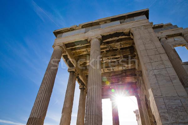 Acropole Athènes Parthénon Grèce antique temple Photo stock © Pakhnyushchyy