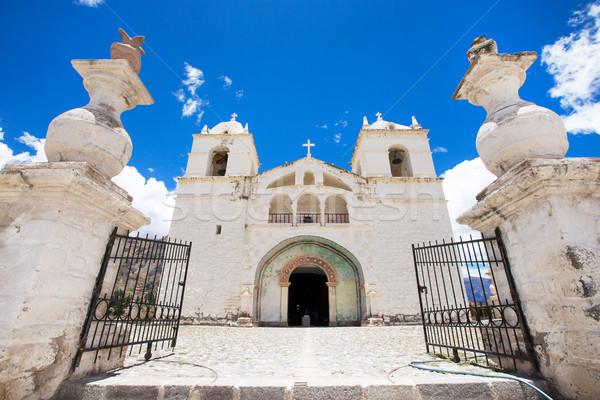 San Pedro de Alcantara Church in Cabanaconde, Peru Stock photo © Pakhnyushchyy