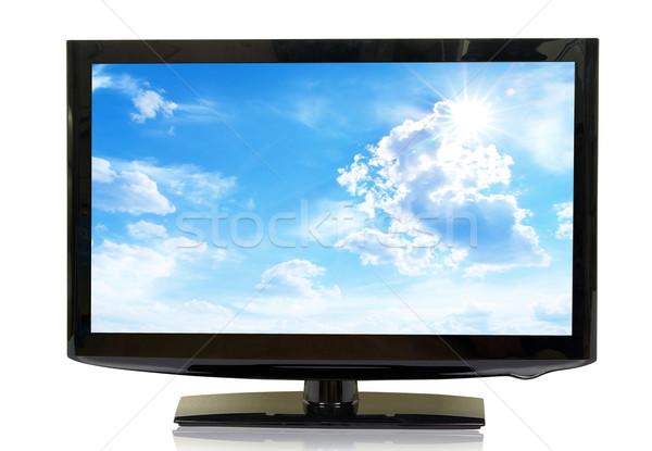 LCD supervisar vista aislado blanco Foto stock © Pakhnyushchyy